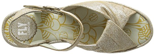 Fly London Women's Yesh712fly Wedges Off White (Pearl 009) DOzFX3w