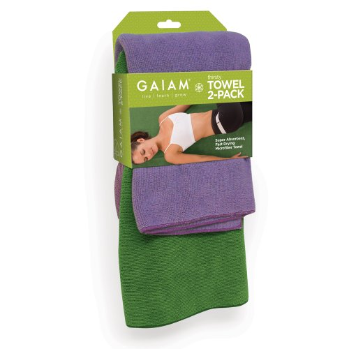 Gaiam 05 58823 Yoga Towel 2 Pack