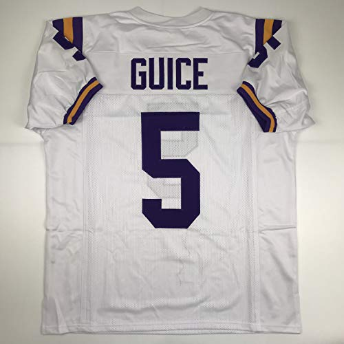 - Unsigned Derrius Guice LSU White Custom Stitched College Football Jersey Size Men's XL New No Brands/Logos