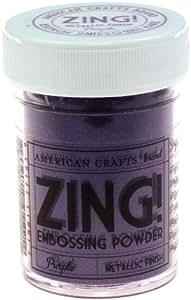 Zing! Metallic Embossing Powder 1 Oz-Purple - 627748