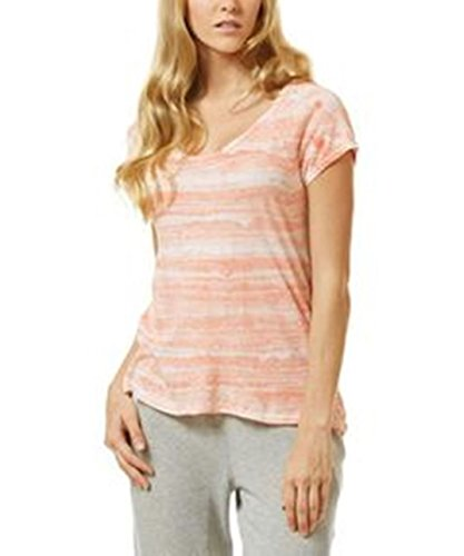 C&c California Tie Dye - C&C California Women's Persimmon Tie Dye Watercolor Strata Top, S