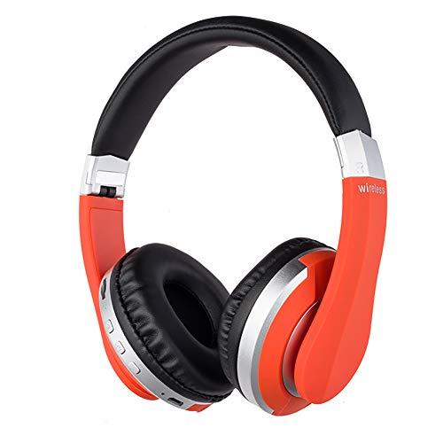 NUYI Explosion Models Bluetooth Headset 5.0 Wireless Bluetooth Headset Folding Left and Right Sound Music Headphones Multicolor,Orange ()