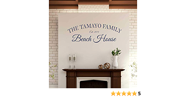 Personalized Family Beach House Wall Decal Sticker