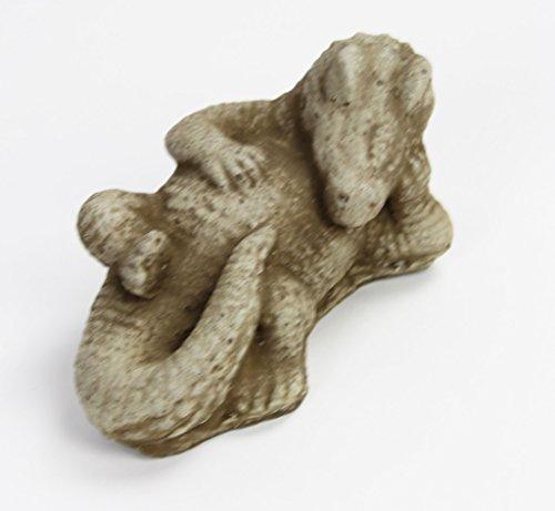 Alligator Garden Statue Crocodile Concrete Statue Cement Alligator Figure Cast Stone crocodile Animal (Concrete Animal)