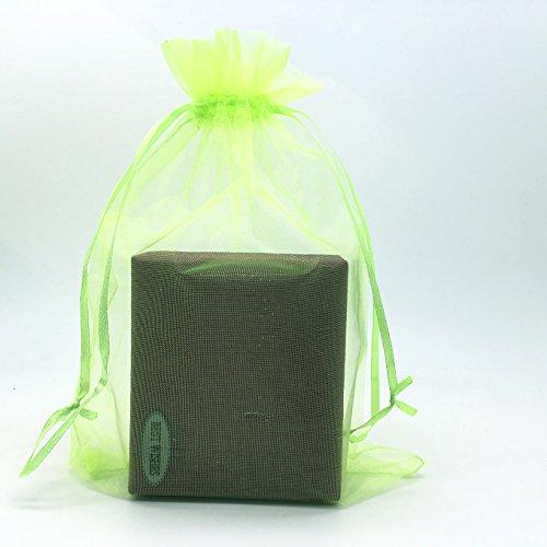 - SUNGULF 100pcs Organza Pouch Bag Drawstring 6