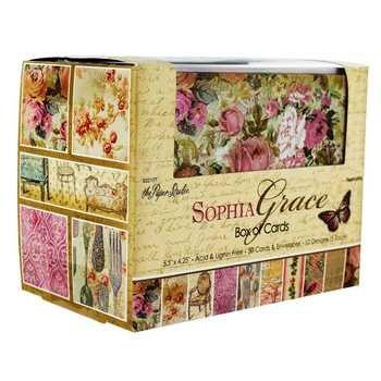 Sophia Grace Blank Note Cards & Envelopes, 5.5