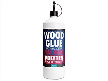 Polyten Fast Grab Wood Adhesive 1 Litre Amazon Co Uk Diy Tools