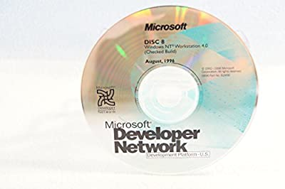 Microsoft Developer Network Windows NT Workstation 4.0 (Checked Build)-Disc #8 Part Number: 92906-Date: August 1996-PC Computer Software Program-Single Replacement Disc