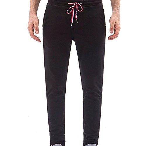 Farjing Men's Pant Clearance,MenCasual Overalls Pocket Sport Trouser Pants(M,Black) by FarJing
