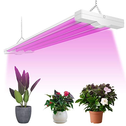 AntLux 4ft LED Grow Light 80W Full Spectrum Integrated Growing Lamp Fixture for Greenhouse Hydroponic Indoor Plant Seedling Veg and Flower, Plug in with ON/Off Switch