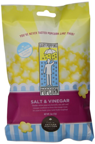 Gary Poppins Salt & Vinegar Popcorn, Bag, 0.6oz (10 Pack)