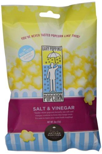 Gary Poppins Salt & Vinegar Popcorn, Bag, 0.6oz (10 Pack)