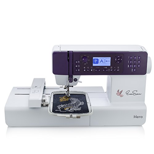 EverSewn Hero - 400-Stitch Computerized Sewing Machine, Sewing or Embroidery: Embroidery Module &...
