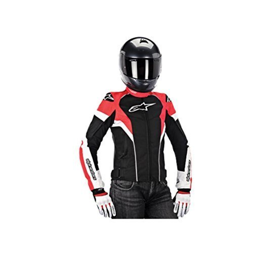 Tgp Plus Air Jacket - Alpinestars Stella T-GP Plus Air Jacket, Gender: Womens, Primary Color: Black, Size: Lg, Apparel Material: Textile, Distinct Name: Black/White/Red 3310614-123-L by Alpinestars