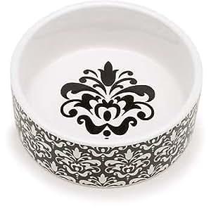 Pet supplies signature chateaux ceramic bowl in black for Alpine cuisine glass bowl set