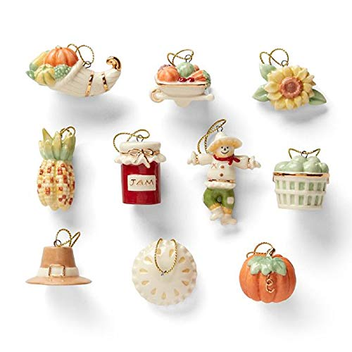 Lenox Ornament Tree - Set of Ornaments (Tree Sold Separately) - Autumn Favorites