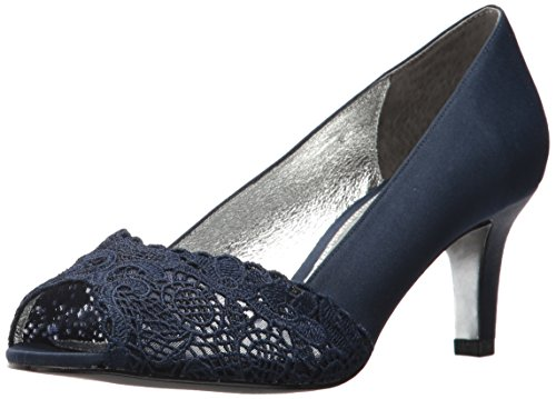 Adrianna Papell Women's Jude Pump, Navy Satin, 5.5 Medium US