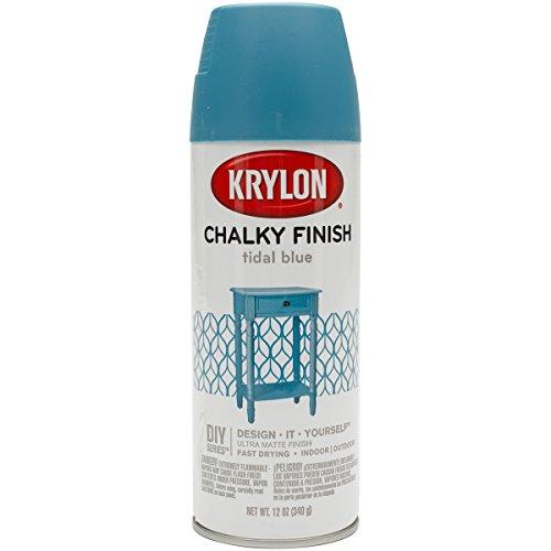 Krylon K04111000 Chalky Finish Spray Paint, Tidal Blue, 12 Ounce