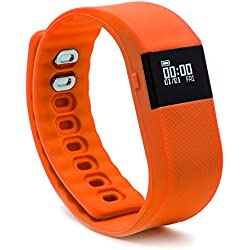 BlueWeigh Rainbow Fitness Activity Tracker with Sleep Monitor, Orange