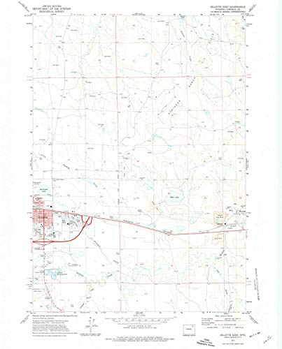 YellowMaps Gillette East WY topo map, 1:24000 Scale, 7.5 X 7.5 Minute, Historical, 1971, Updated 1974, 26.9 x 21.7 in - Paper