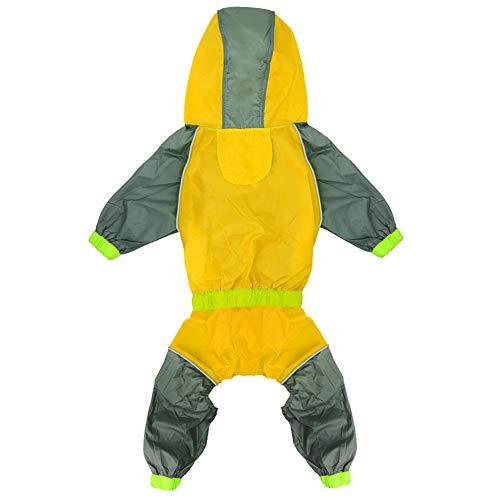Yellow Labrador Costumes - Kuntrona Dog Raincoat Reflective Dogs Rain