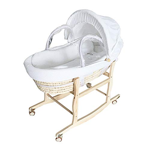 (JayCreer Baby Newborn New Infant Doll Moses Baskets Baby Newborn New Infant Doll Moses Baskets Bassinet (White))