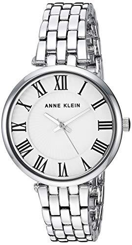 Anne Klein Women's AK/3323WTSV Silver-Tone Bracelet Watch (Anne Roman Bracelet Klein Numeral)