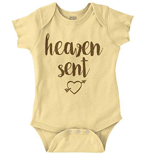 Brisco Brands Heaven Sent Adorable Christian Shower Gift Romper Bodysuit