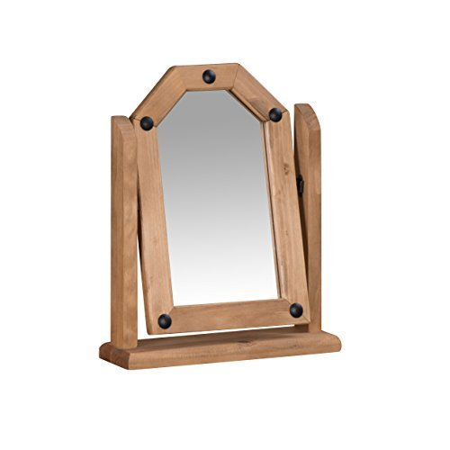 Mercers Furniture Corona Single Mirror, Wood, Antique Wax by Mercers Furniture by Mercer's Furniture