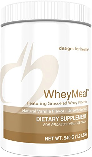 Designs for Health 16g of Grass Fed Whey Protein Powder Vanilla - WheyMeal Vanilla (540g / 15 Servings) ()