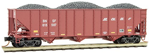 Micro-Trains MTL N-Scale 100-Ton 3-Bay Hopper Car/Coal Load BNSF #615587