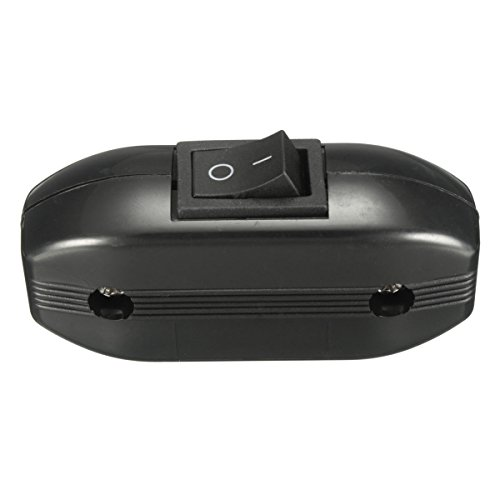 EsportsMJJ 250V 6A En L/ínea Interruptor Basculante Encendido//Apagado Mesa L/ámpara Interruptor De Luz Para Cable De 3 N/úcleos