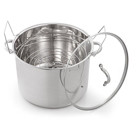 (McSunley 620 Medium Stainless Steel Prep N Cook Water Bath Canner, 21.5 quart, Silver)
