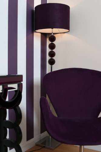 Premier Housewares Mistro Purple Floor Lamp With 4 Glass Balls Chrome Base  And Faux Suede Shade: Amazon.co.uk: Lighting