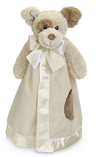 Bearington Baby Lil' Spot Snuggler, Puppy Dog Plush Stuffed Animal Security Blanket, Lovey 15
