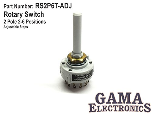 Rotary Switch 2 Pole 2-6 Positions - Adjustable Stops ()