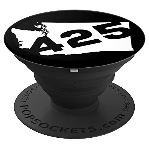 425 Area Code Washington - PopSockets Grip and Stand for Phones and Tablets -