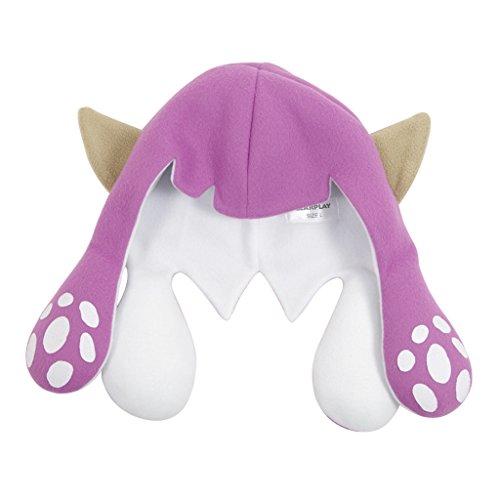 Whoopsu Unisex Squid Caps Inkling Boy Girls Balaclava Hats Octoling Headwear for Splatfest (Large, Purple-2) ()