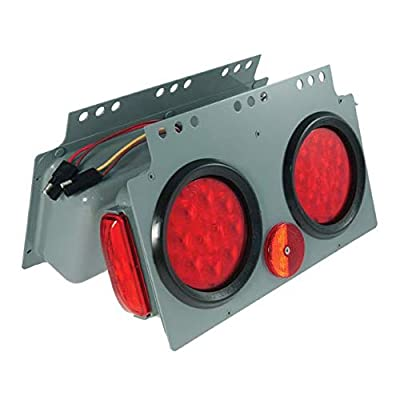 Grote 51012 Gray/Red SuperNova 10-Diode LED Stop Tail Turn Power Module with Sidemarker (Male Pin, RH): Automotive