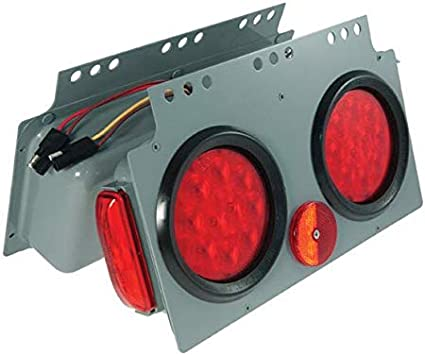 Grote 51002 Gray//Red SuperNova 10-Diode LED Stop Tail Turn Power Module with Sidemarker Male Pin, RH