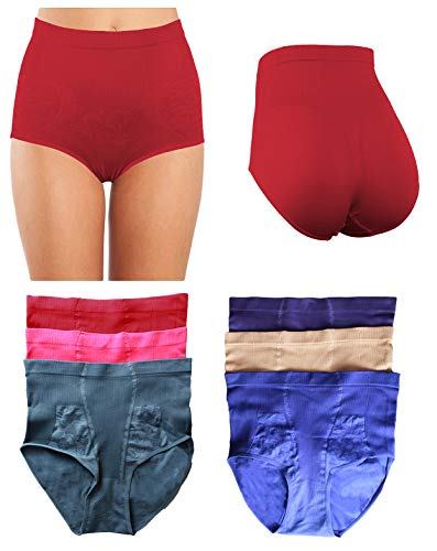 - Women's Plus Size Seamless High-Waisted Girdle Panties Briefs Cut Brief (XX-Large, Style 3)