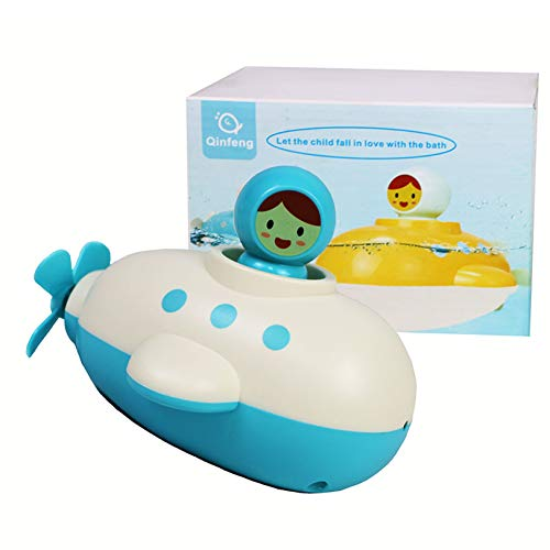 Baby Bath Toy Submarine Bath Toy ,Bath Toy with Spinning Rear Propeller,Water Spray Toy .Safe Toys for Toddlers, Babies (Blue)