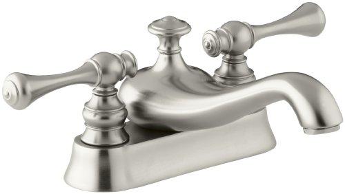 Centerset Spout Faucet 4' (KOHLER K-16100-4A-BN Revival Centerset Lavatory Faucet, Vibrant Brushed Nickel)