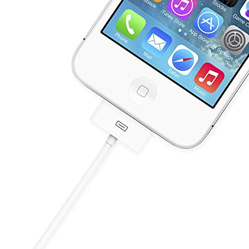 TalkWorks iPhone Charger 30 Pin Cable 5ft Apple Certified for iPhone 4 / 4S / 4G, iPhone 3 / 3S / 3G, iPad 1/2 / 3, iPod Nano 5th / 6th Gen, iPod ...