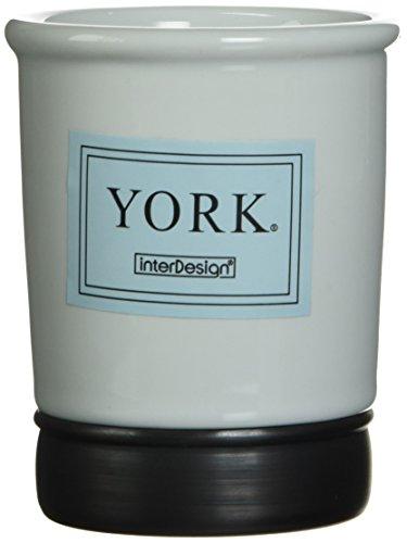 InterDesign York Ceramic Tumbler Cup for Bathroom Vanity Cou