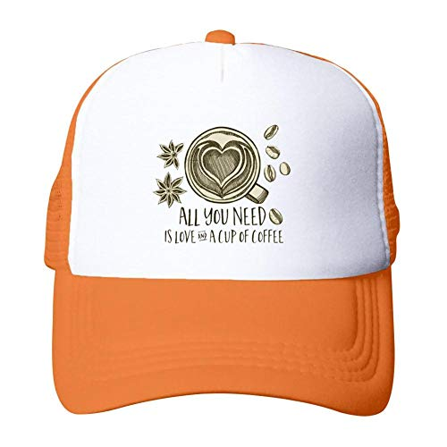 Price comparison product image All You Need is Love and A Cup of Coffee 3D Printed Adjustable Baseball Cap Unisex Sunscreen Mesh Cap