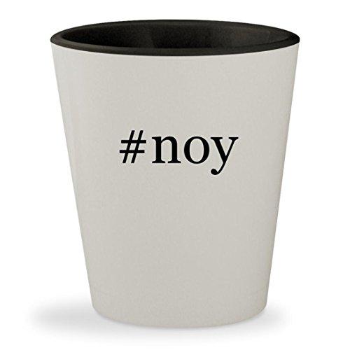 #noy - Hashtag White Outer & Black Inner Ceramic 1.5oz Shot Glass