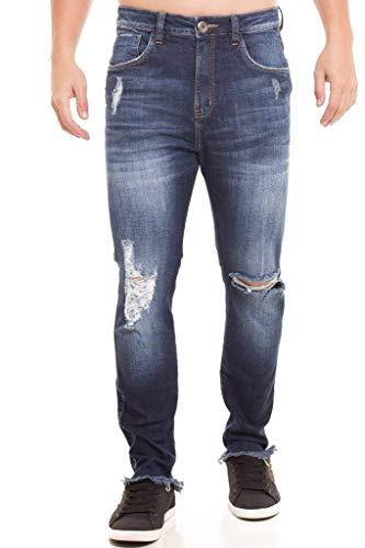 Calça Jeans Denuncia Loose Fit Azul 38