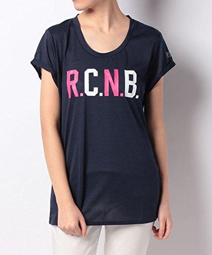 の前でモナリザ拷問(ナンバー) Number レディースR.C.N.B.マルチカラーロゴTシャツ M ネイビー