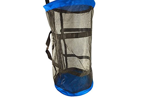 - Large Duffel Dive Mesh Bag. Swimming, Snorkeling, Wetsuit, Water Sports Mesh Bag. Massive Storage: Large main compartment & Seperate Storage side pockets